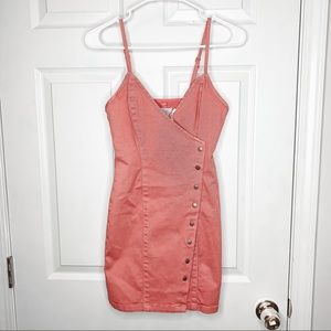 MinkPink button down overall dress size xs